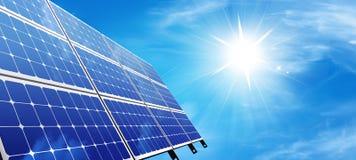 El panel solar ilustración del vector