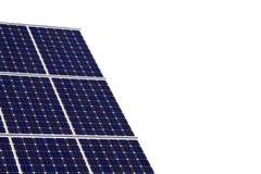 El panel solar aislado en el fondo blanco Imagen de archivo
