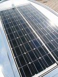 El panel solar brillante Foto de archivo libre de regalías