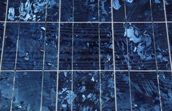El panel solar - células solares Imagen de archivo libre de regalías