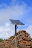 El panel solar de la India Foto de archivo libre de regalías