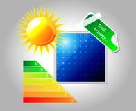 El panel solar del vector. Icono. Imagen de archivo
