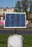 El panel solar, el pequeño panel solar en competencia urbana, Imágenes de archivo libres de regalías