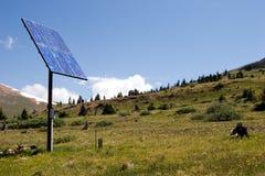 El panel solar en el cielo I fotos de archivo