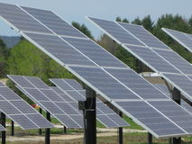 El panel solar en Vermont Imagen de archivo libre de regalías