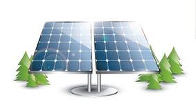 Sistema del panel solar Foto de archivo libre de regalías