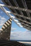 El panel solar gigante Imagen de archivo libre de regalías