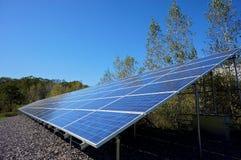 El panel solar muy largo Imagen de archivo