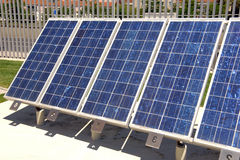 El panel solar para la energía alternativa Imagen de archivo libre de regalías