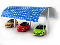 El panel solar para los coches Fotografía de archivo libre de regalías