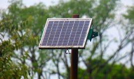 El panel solar rústico imagen de archivo