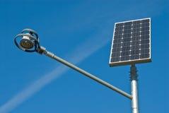 El panel solar y lámpara fotos de archivo libres de regalías