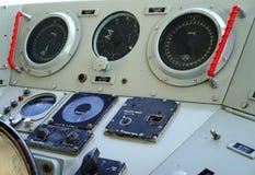 El panel submarino de la navegación fotos de archivo