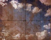 El panel sucio del cielo Foto de archivo libre de regalías
