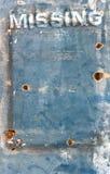 El panel sucio que falta Fotografía de archivo