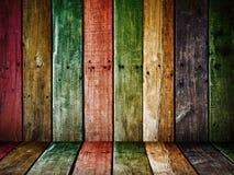 El panel viejo de madera del grunge Imagen de archivo
