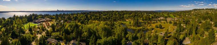 El panorama aéreo Medina Washington tiró con un abejón foto de archivo