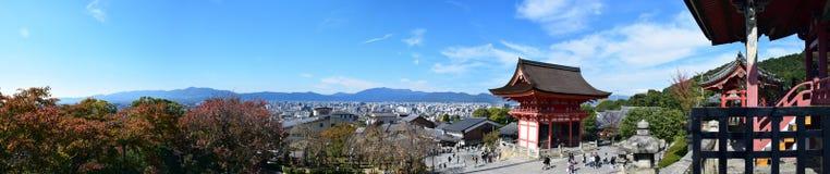 El panorama de Kyoto vio del templo de Kiyomizu, Kyoto Fotografía de archivo libre de regalías