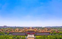 El panorama de la ciudad Prohibida Imagen de archivo libre de regalías