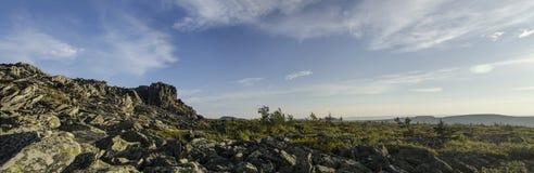 El panorama de los Urales septentrionales Fotografía de archivo libre de regalías