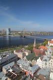El panorama de Riga Foto de archivo libre de regalías
