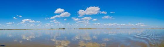 El panorama del horizonte en humedal Imagen de archivo