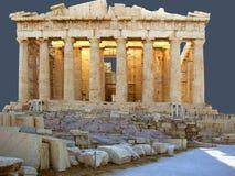 El Panthenon en la acrópolis Fotografía de archivo