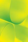El papel abstracto de la imagen forma verde amarillo Foto de archivo