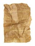 El papel arrugado viejo aislado Fotos de archivo libres de regalías