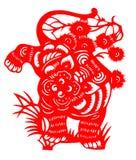 El papel chino cortó por el año del tigre de 2010 Imagenes de archivo