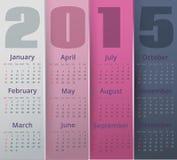 El papel coloreó el calendario de 2015 años Fotos de archivo