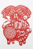Corte de papel rojo de China Imagen de archivo libre de regalías