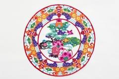 Corte de papel rojo de China Imagenes de archivo