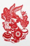 Corte de papel rojo de China Foto de archivo libre de regalías