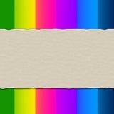 El papel de Copyspace significa multicolor en blanco y colores Imagen de archivo libre de regalías