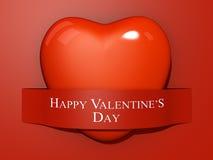 El papel de la tarjeta del día de San Valentín cortado Fotografía de archivo