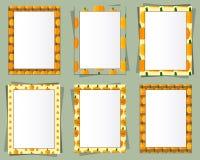 El papel del formato A4 y A3 diseña vector con el texto Fotografía de archivo libre de regalías
