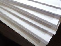 El papel doblado y alista fotos de archivo libres de regalías