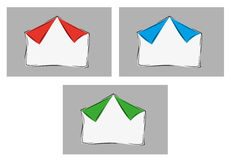Papel en blanco con dos esquinas dobladas Fotografía de archivo libre de regalías