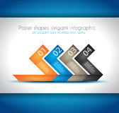 El papel forma infographics de la papiroflexia Imagen de archivo