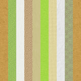 El papel grabado en relieve vintage texturiza el collage de las rayas libre illustration