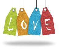 El papel pone letras a amor. Imágenes de archivo libres de regalías
