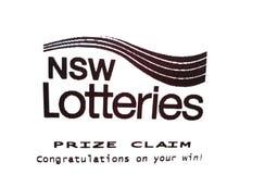 El papel premiado de la demanda de las loterías de Nuevo Gales del Sur dice enhorabuena en su triunfo en el Libro Blanco