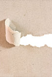 El papel reciclado fue rasgado una tira Imagenes de archivo