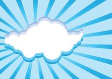 El papel se nubla el fondo Fotos de archivo libres de regalías