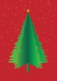 El papel verde del pino de Cristmas surge Fotos de archivo