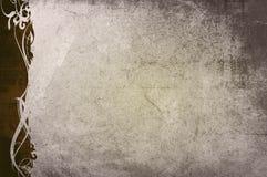 El papel viejo del estilo floral textures el marco Imagenes de archivo