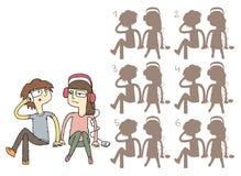 El par aburrido sombrea el juego visual stock de ilustración