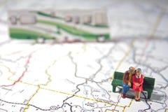 El par mayor viaja por rv   Fotografía de archivo libre de regalías