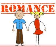 El par romántico representa pares y cariño de la dedicación ilustración del vector
